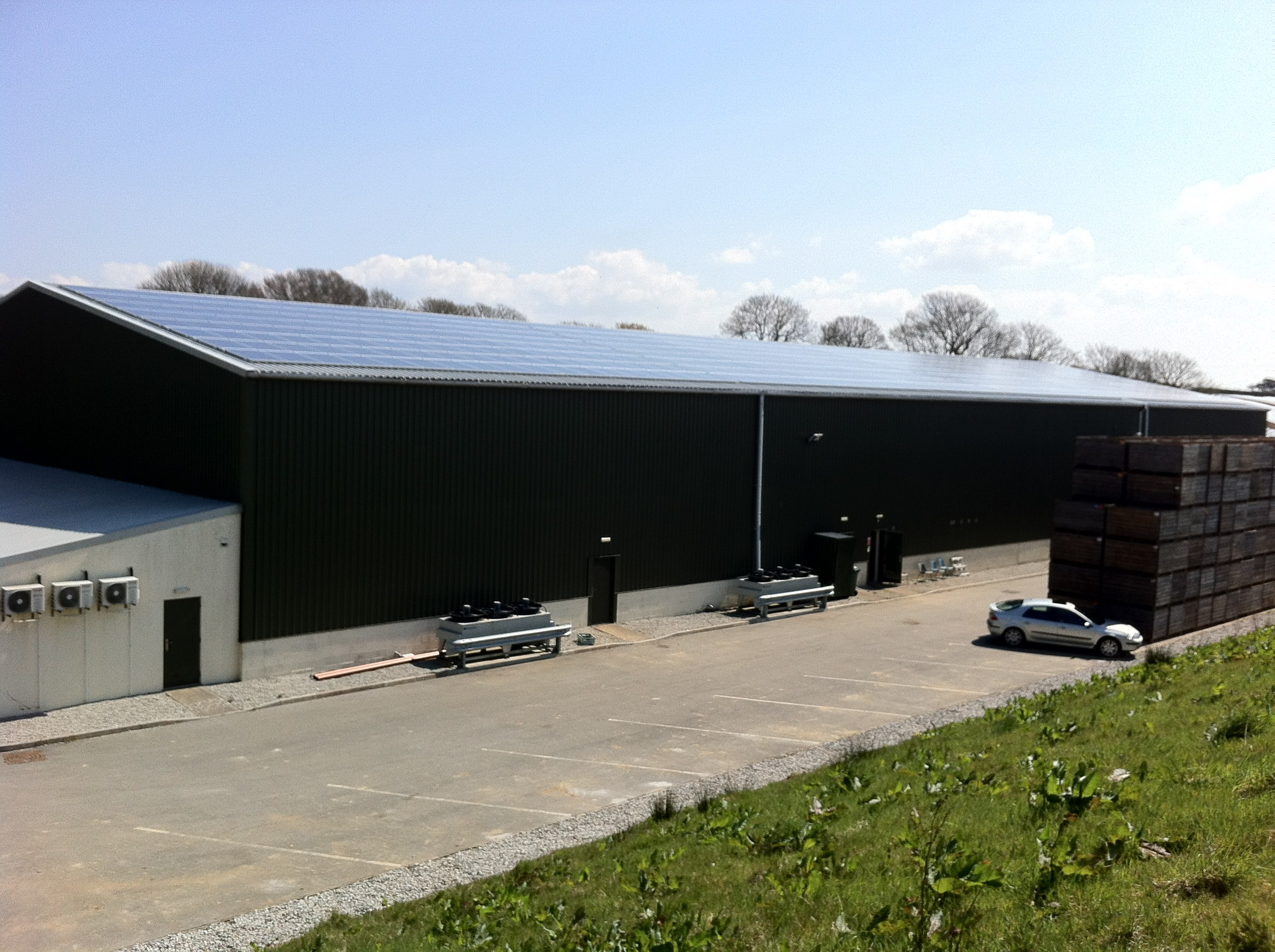 Cornwall solar side view
